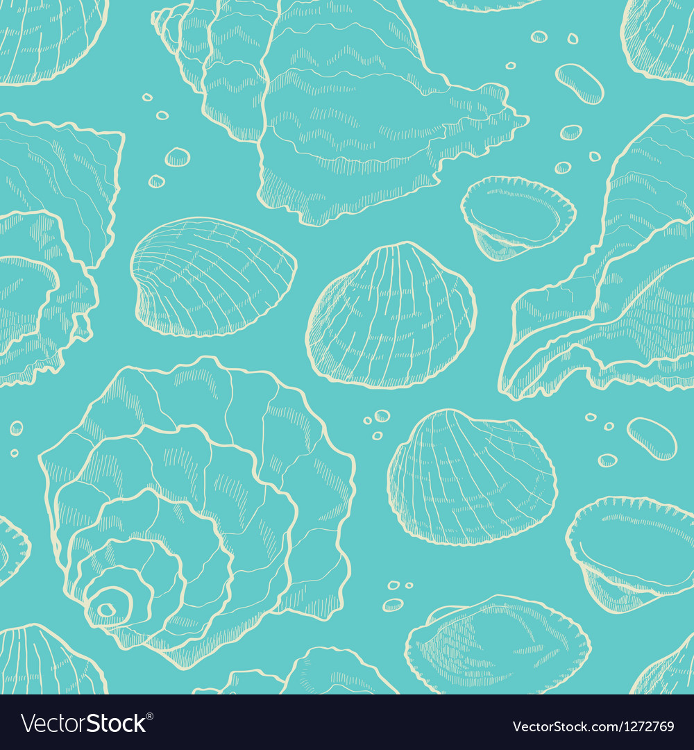 Seashell seamless vector