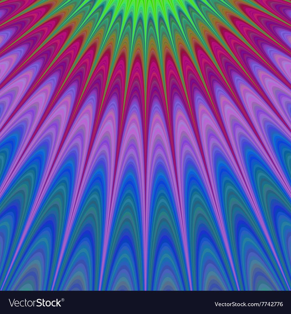Multicolor fractal sun rays