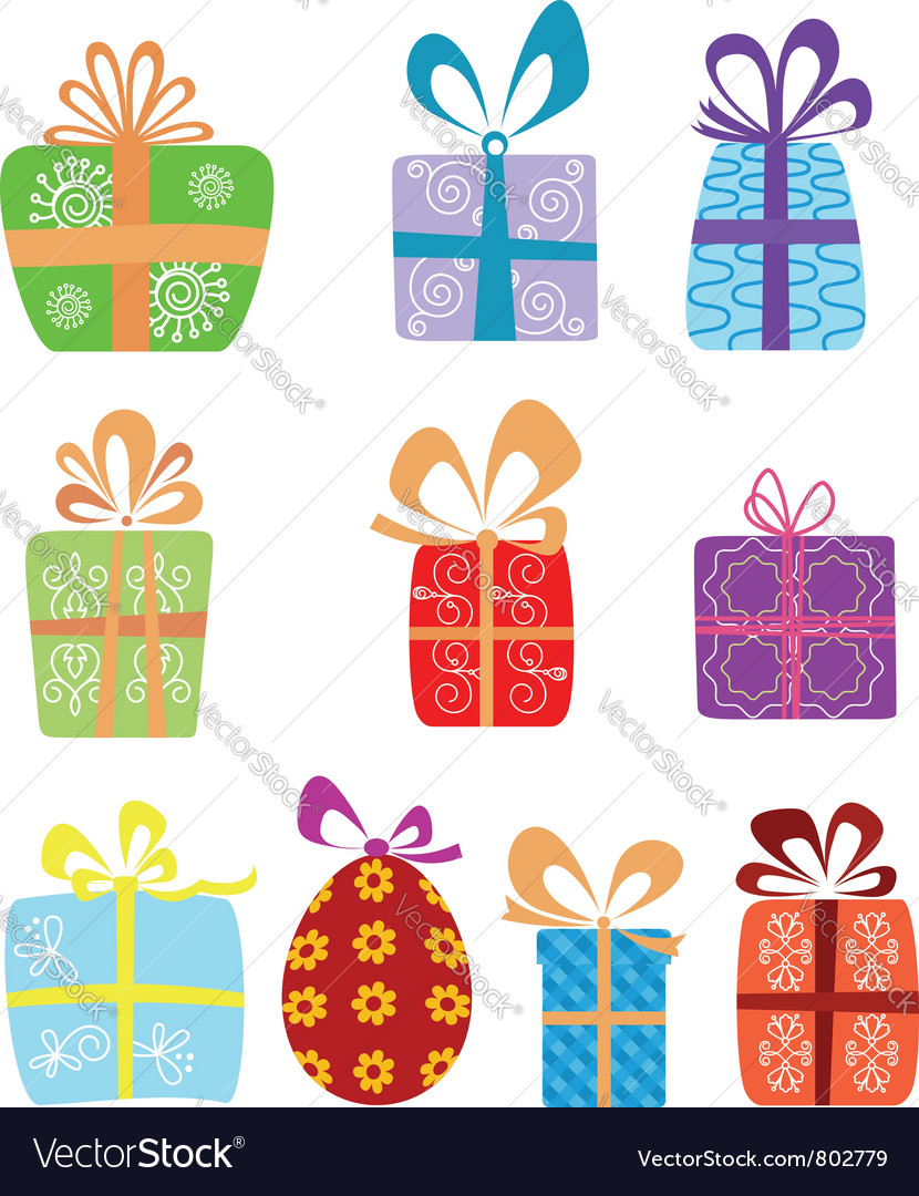 Holiday gifts vector