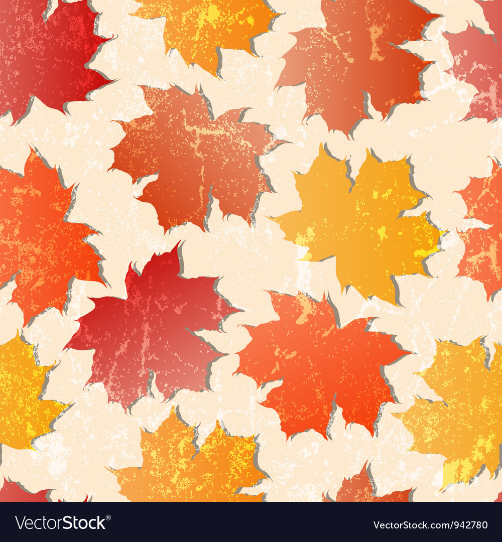 Maple leaves seamless wallpaper vector