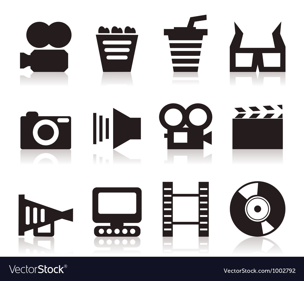 Cinema icons3 vector
