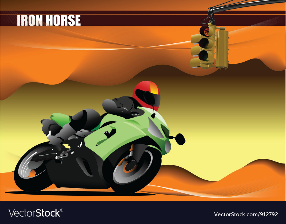 Motorcyclist vector