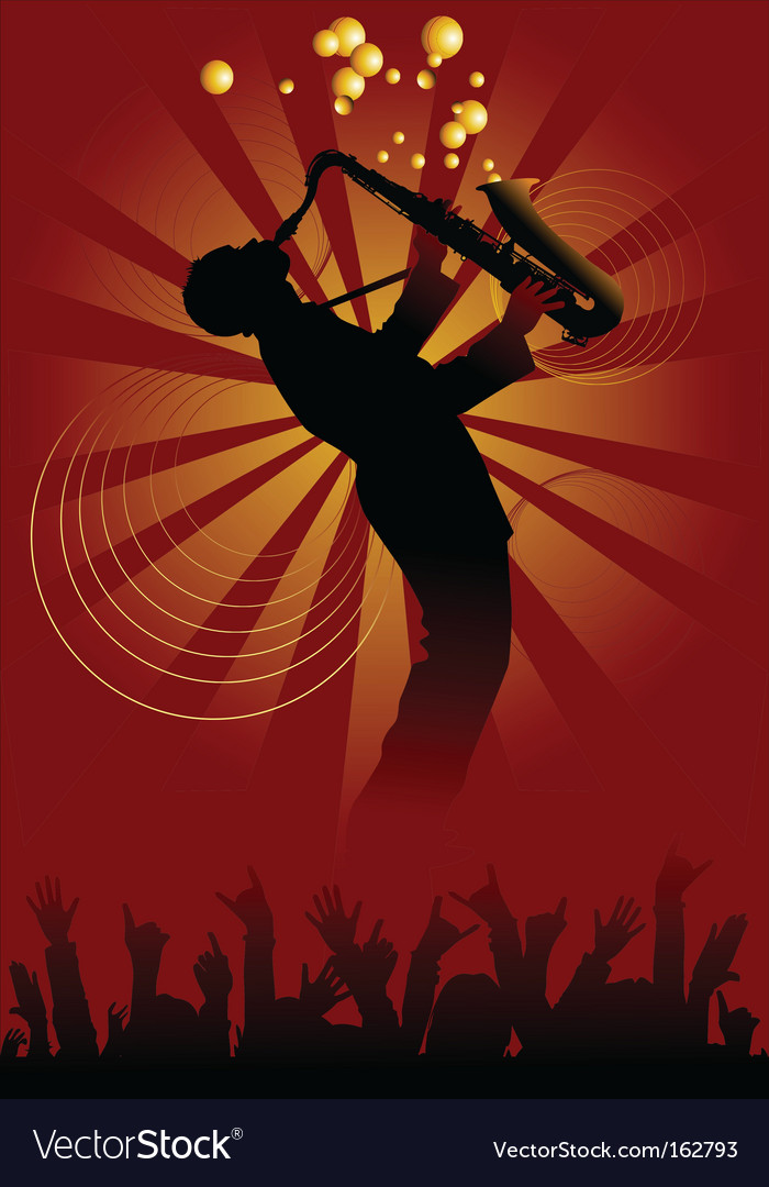 Magic saxophone vector