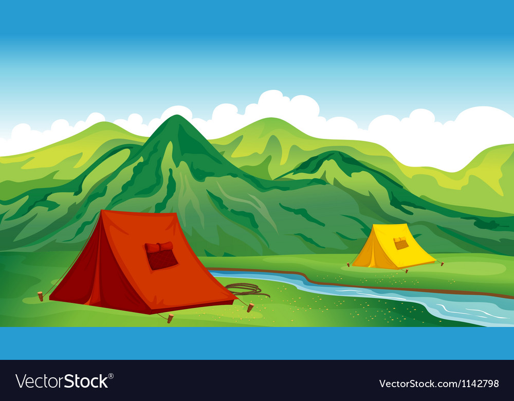 A camping site vector