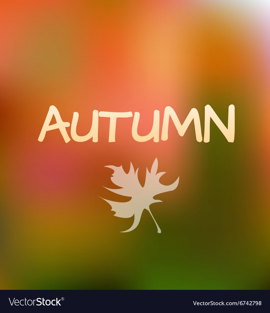 Autumn season background design