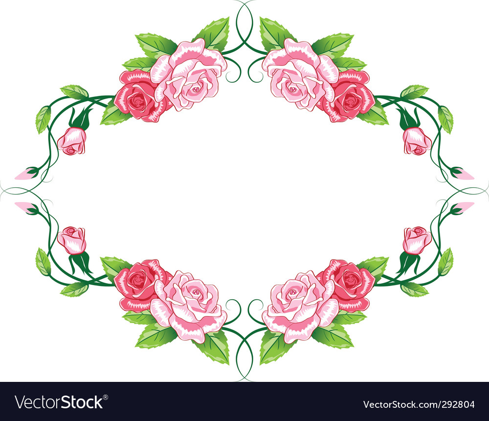Greeting floral rose card vector