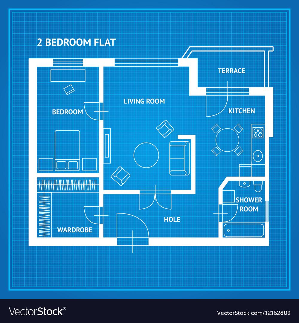 Flat Apartment Definition: Apartment Floor Plan Blueprint Vector By Mousemd