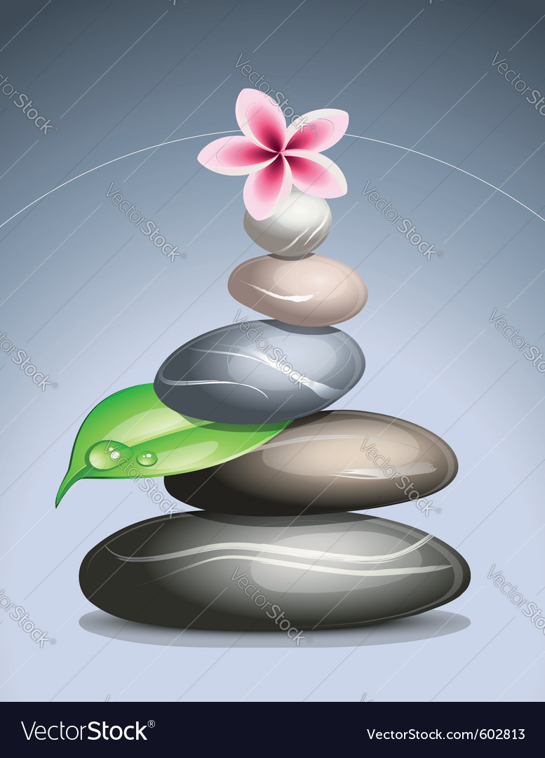 Colored pebbles in a pile vector