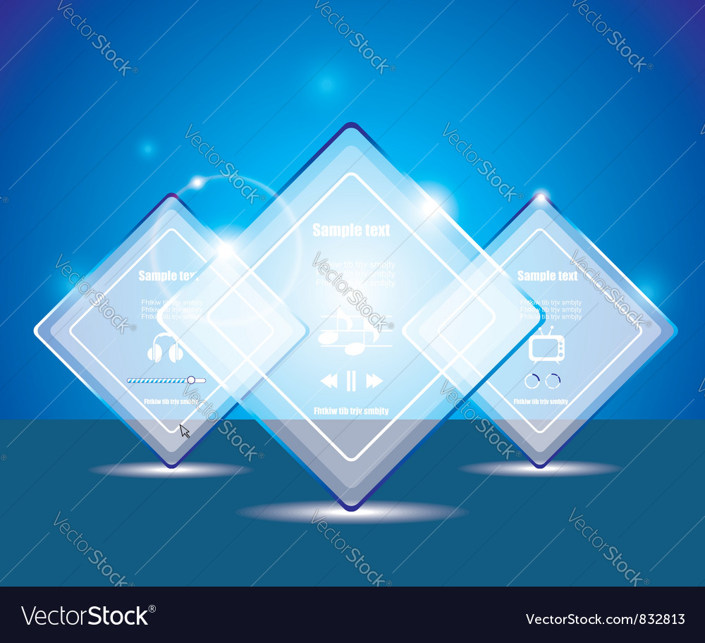 Glass transparent web box vector