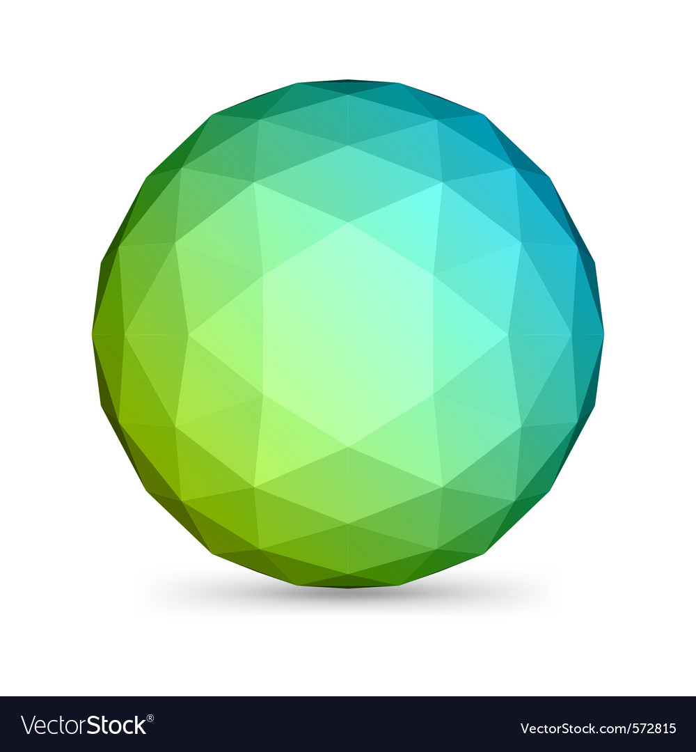 Abstract modern sphere vector