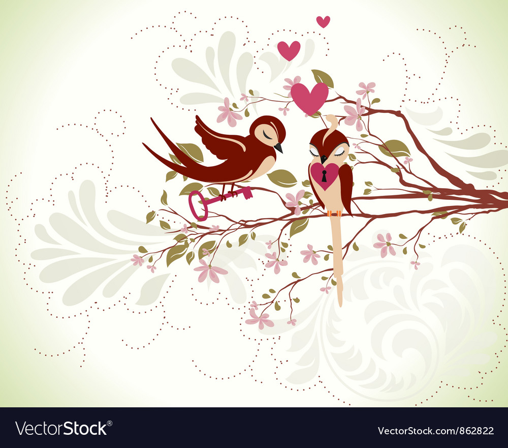 Free love birds vector