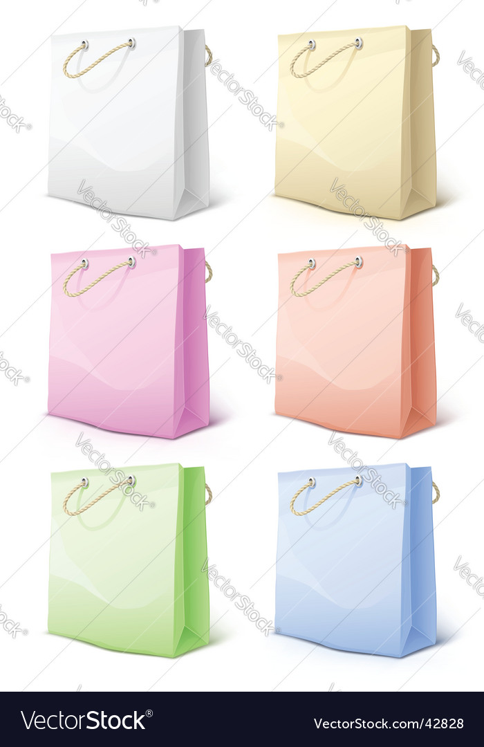 Paper shopping bags vector