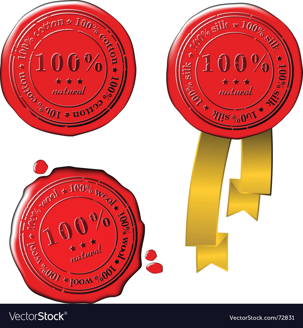 Sale wax stamps vector