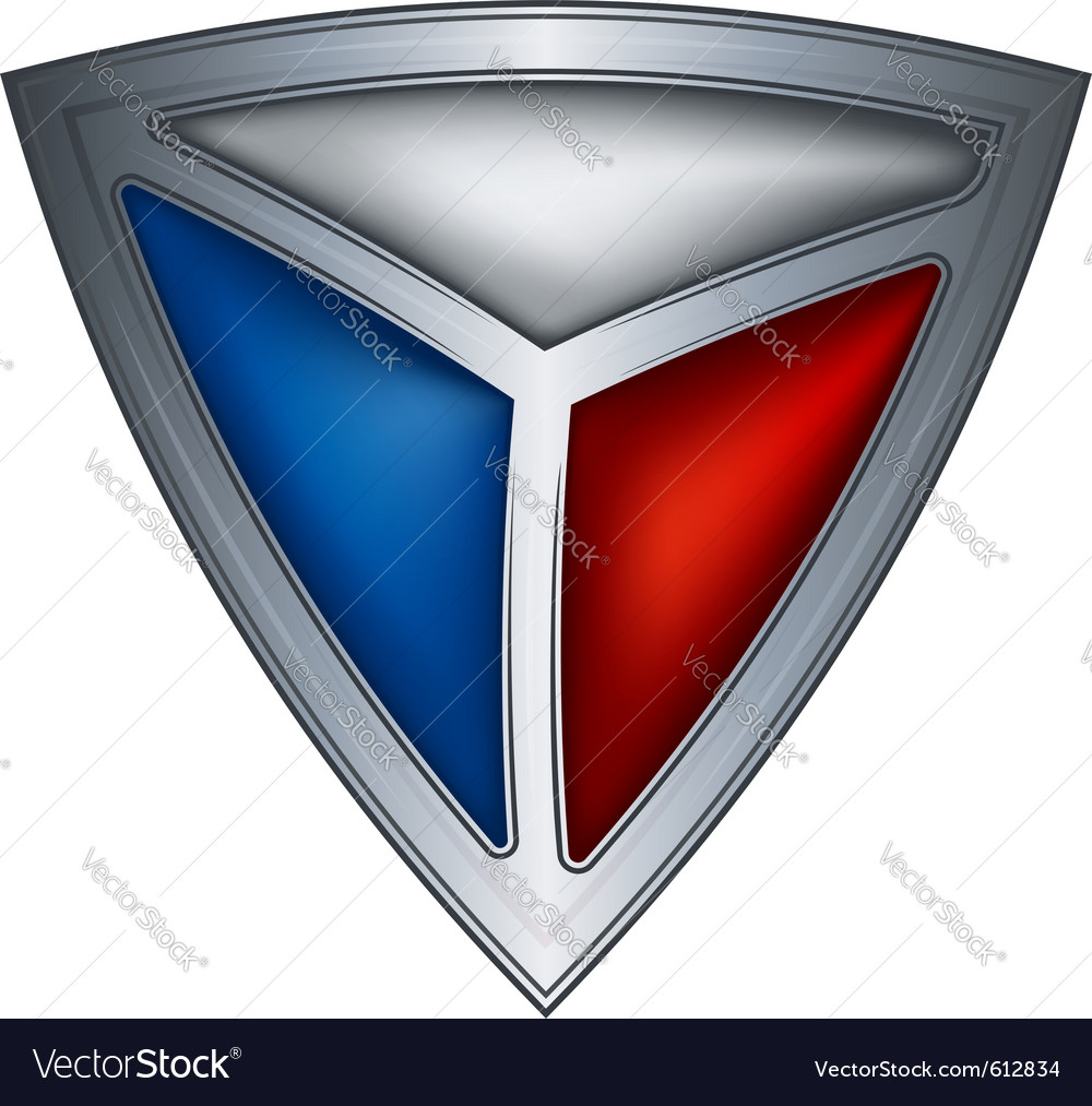 Steel shield with flag czech republic vector