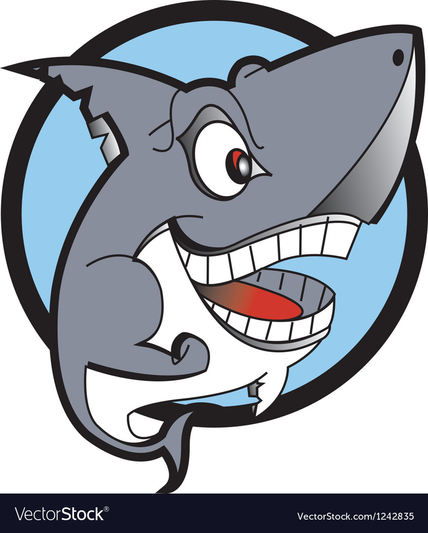 Danger shark logo vector