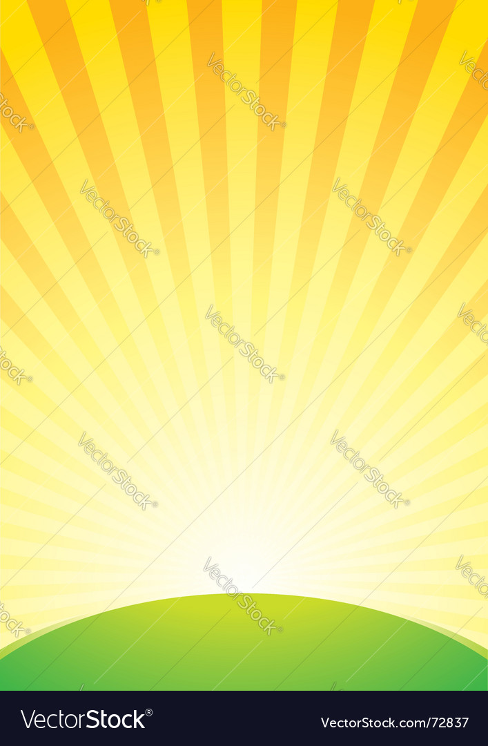 Sunrise background vector