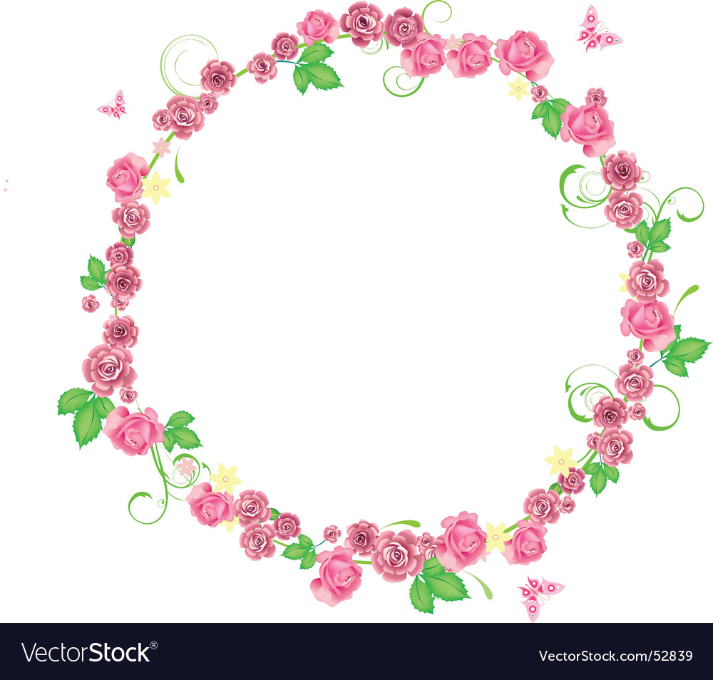 frame circle vector by itmuryn image 52839 vectorstock