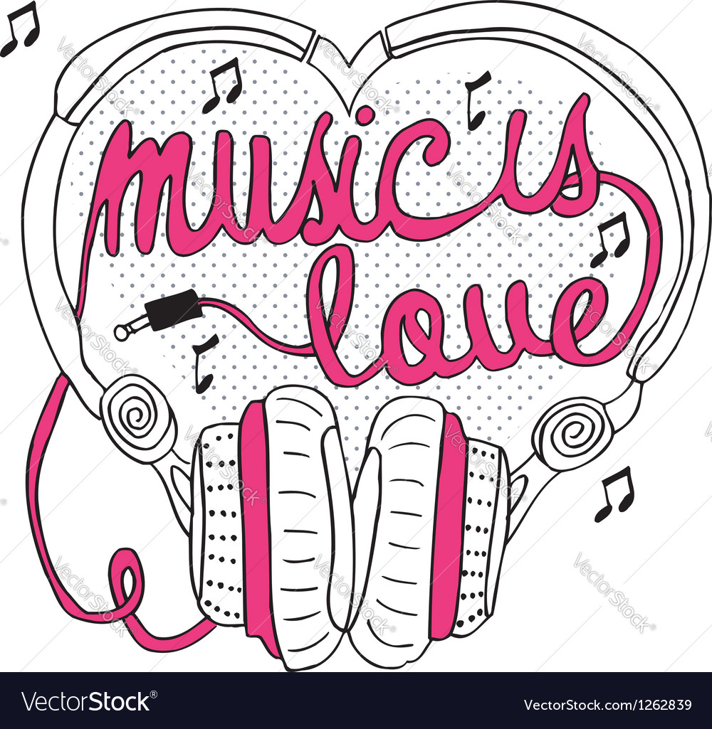 Music is love vector