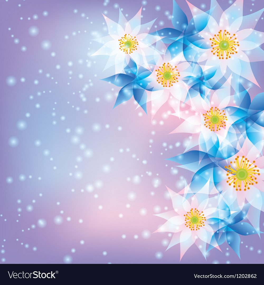 Free abstract background with flowers vector