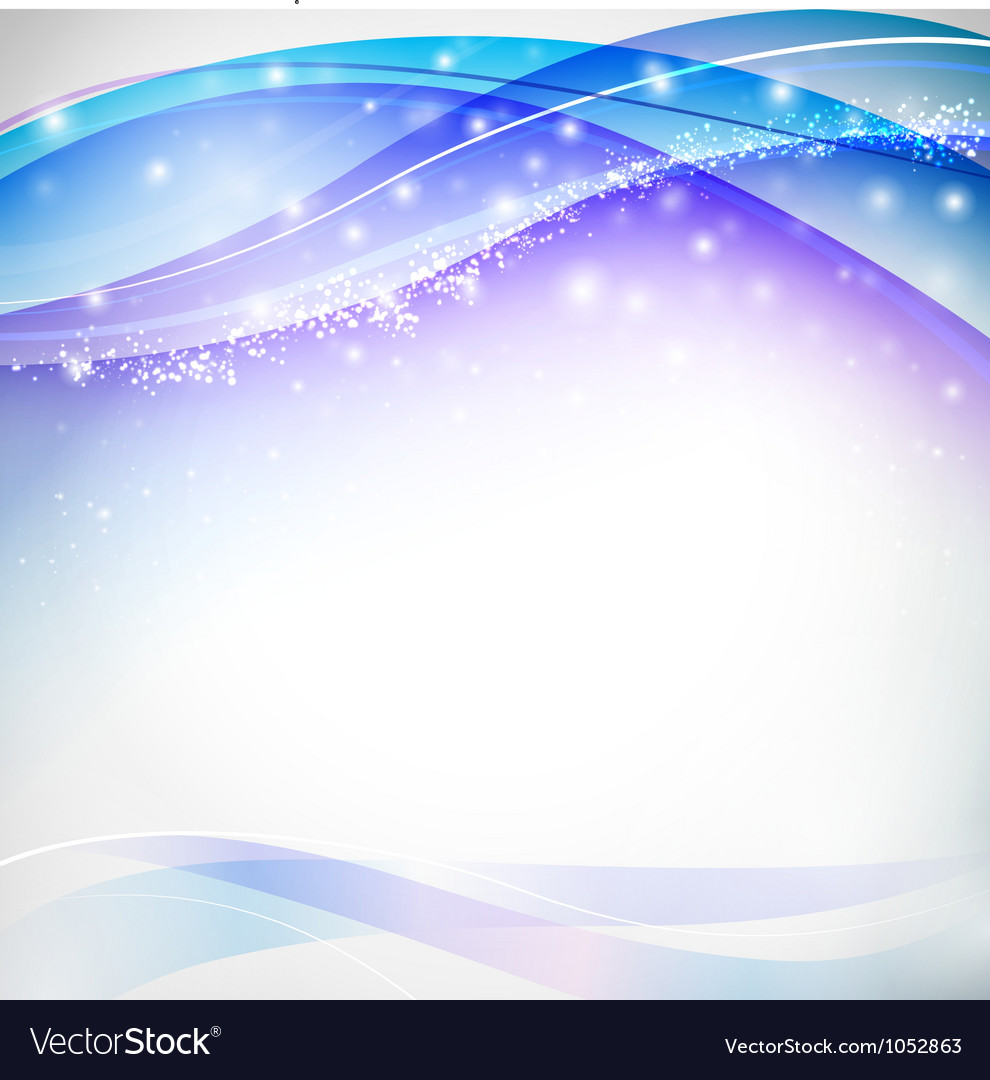 Blue blurs with snowflakes vector