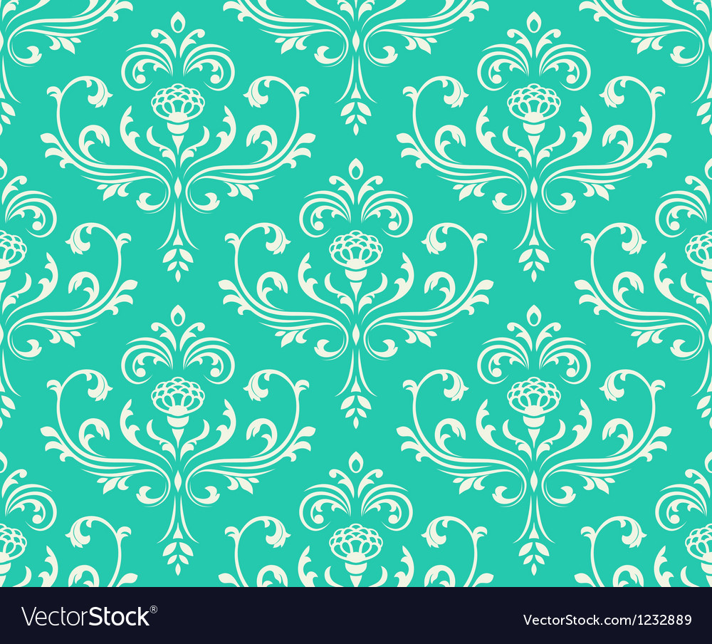 Classic floral seamless ornate background vector