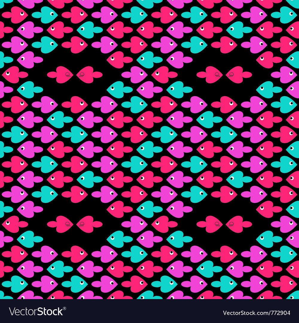 Cartoon fishes pattern vector