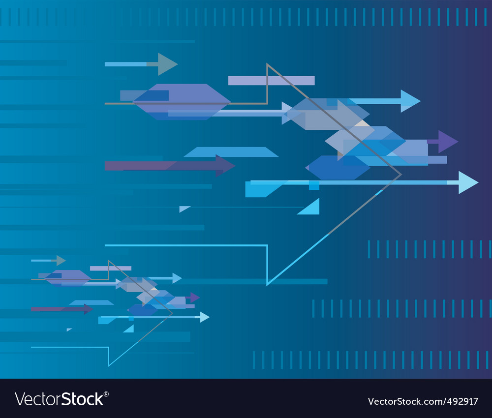 Abstract blue background with arrows vector