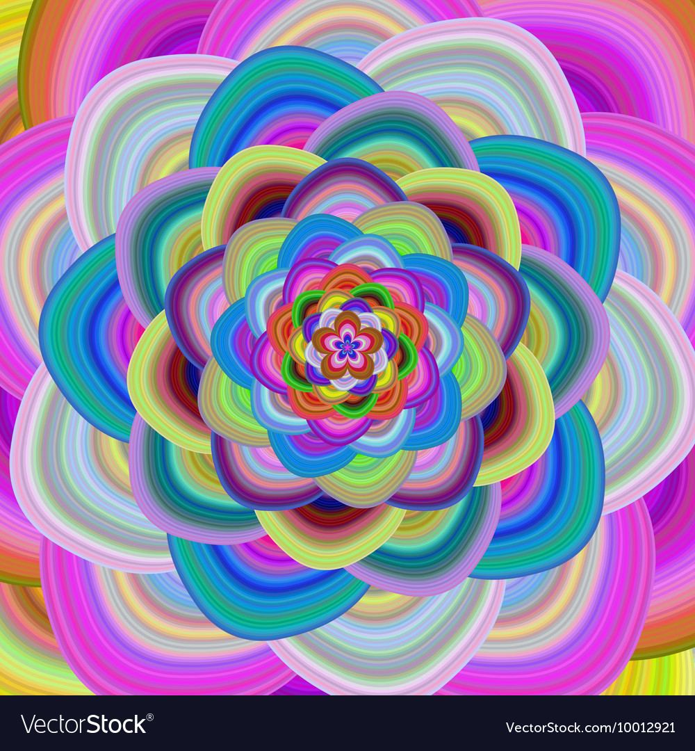 abstract multi colored floral background vector by