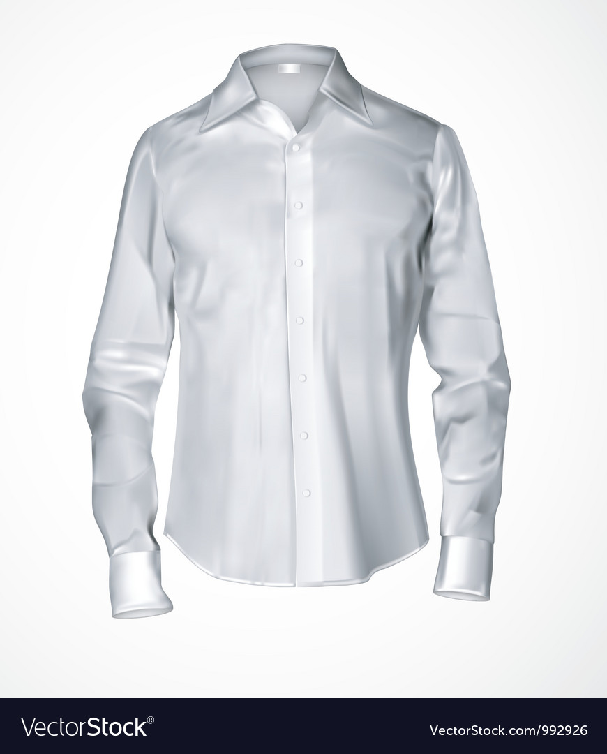 White male shirt vector