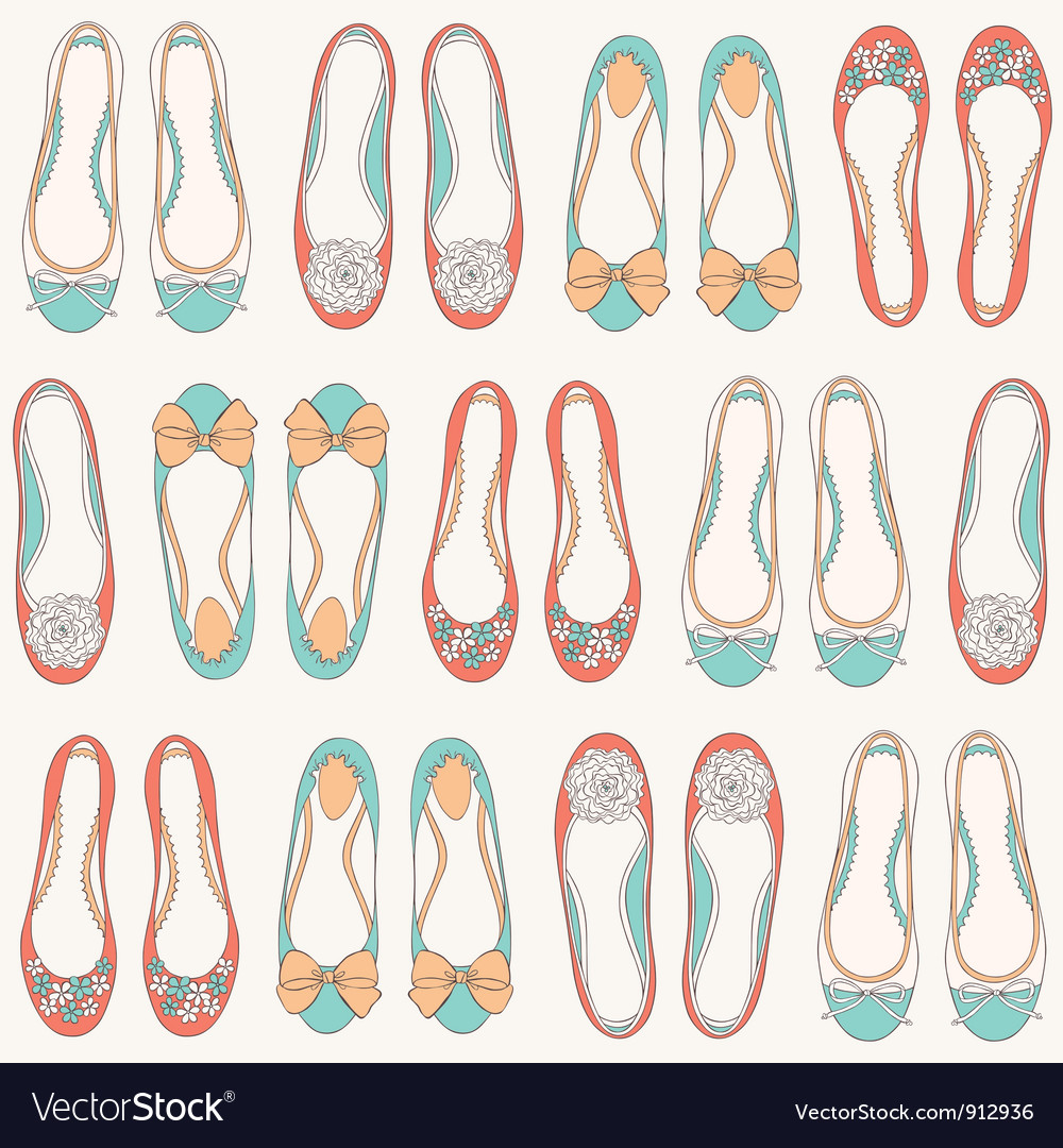 Ballerinas seamless pattern vector