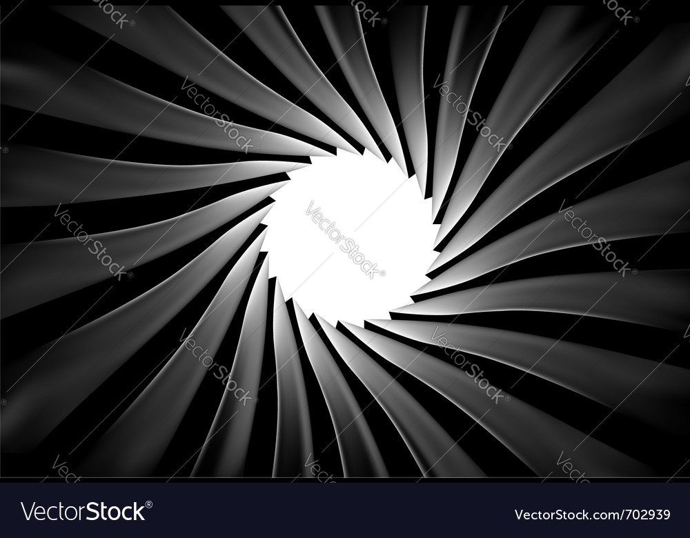 Inside of a gun barrel vector