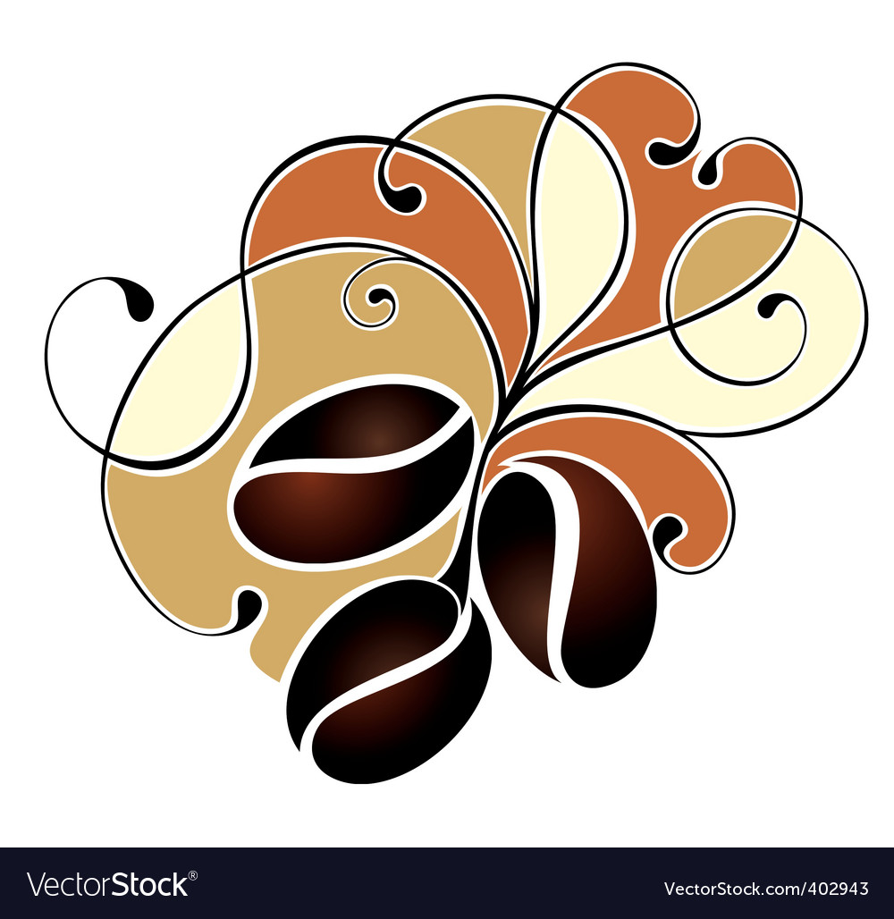 Coffee design with beans vector