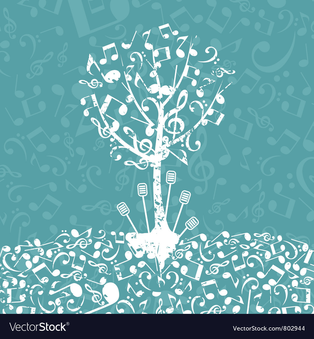 Musical tree5 vector