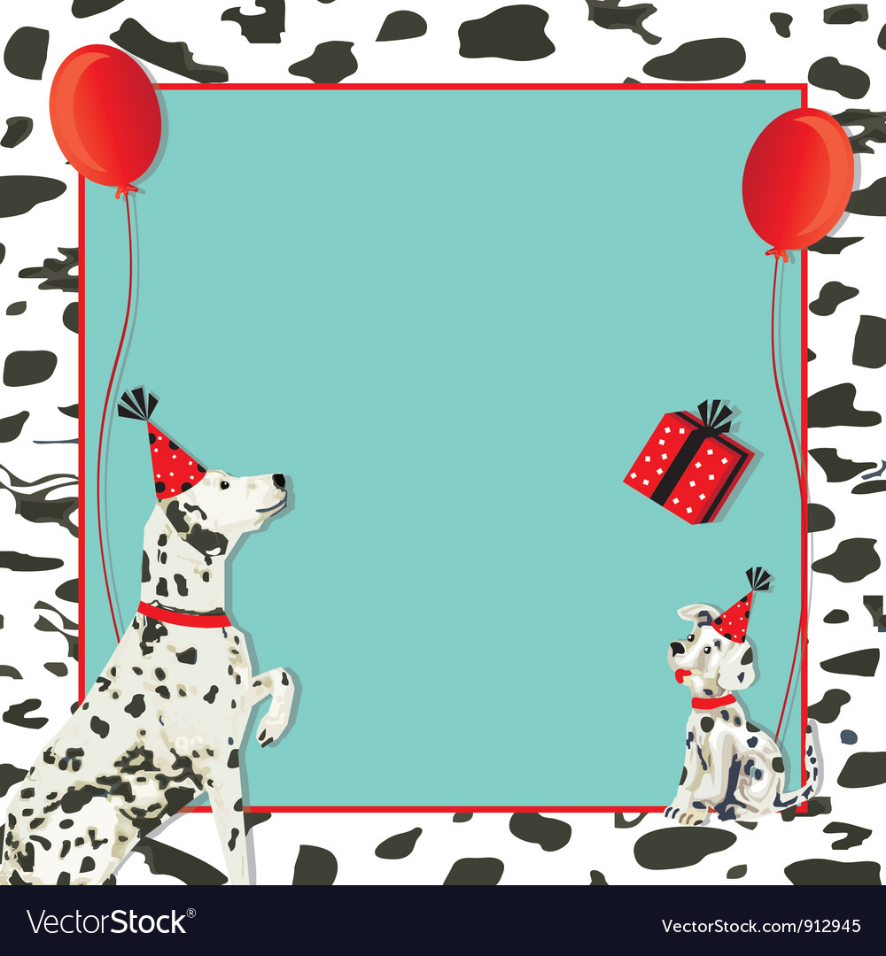 Dalmatian dog invitation vector