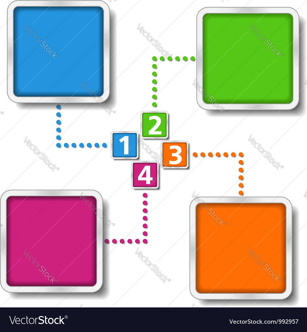 diagram template vector by  human   image      vectorstockdiagram template vector