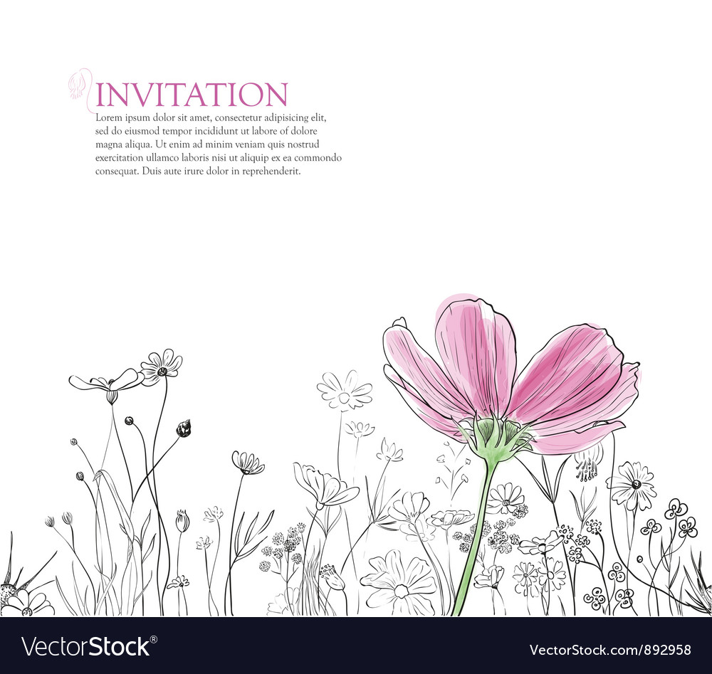Flower background vector by Lemuana - Image #892958 - VectorStock Vintage Border Vector