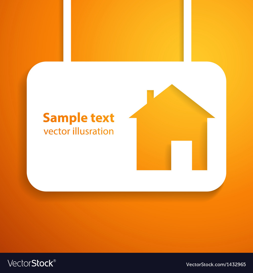 House applique background vector