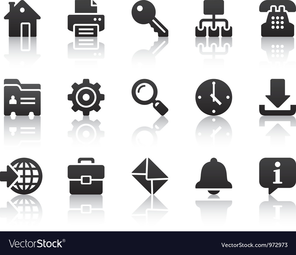 Internet icons vector