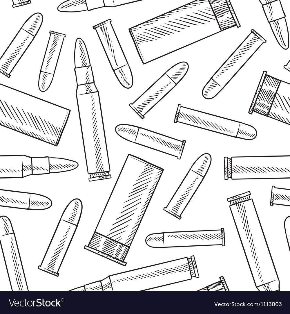 Doodle bullets patterns seamless vector