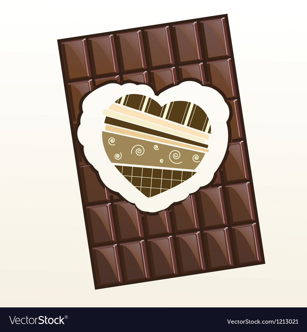Free chocolate valentine card coffee in vector