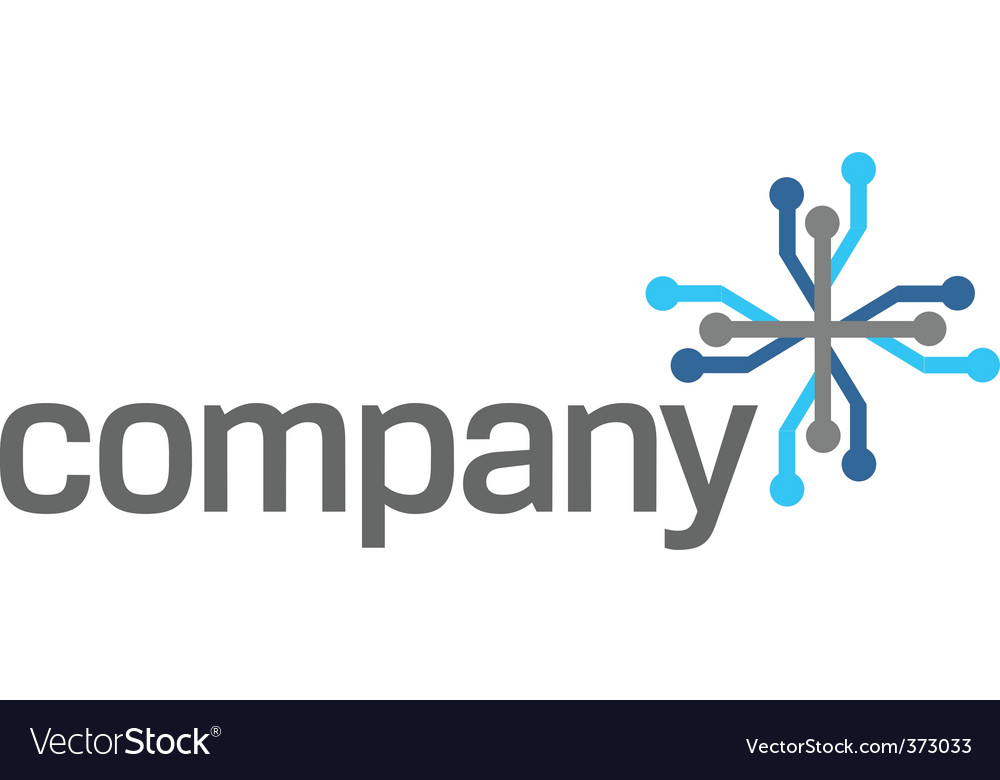 Connection technology logo vector