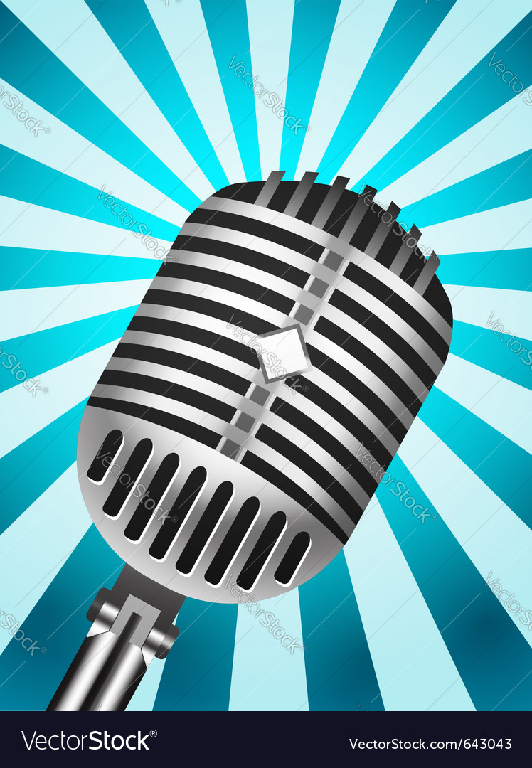 Microphone back retro vector