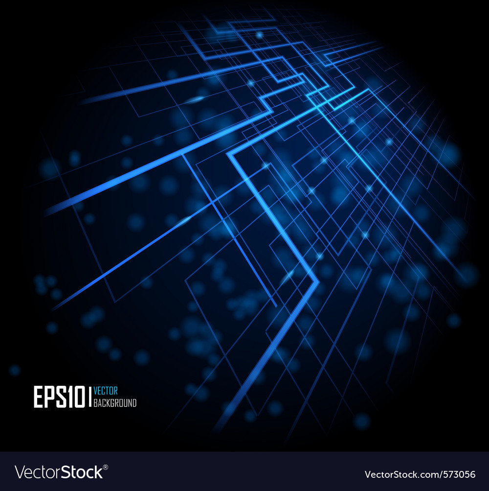 Blue abstract glowing background vector