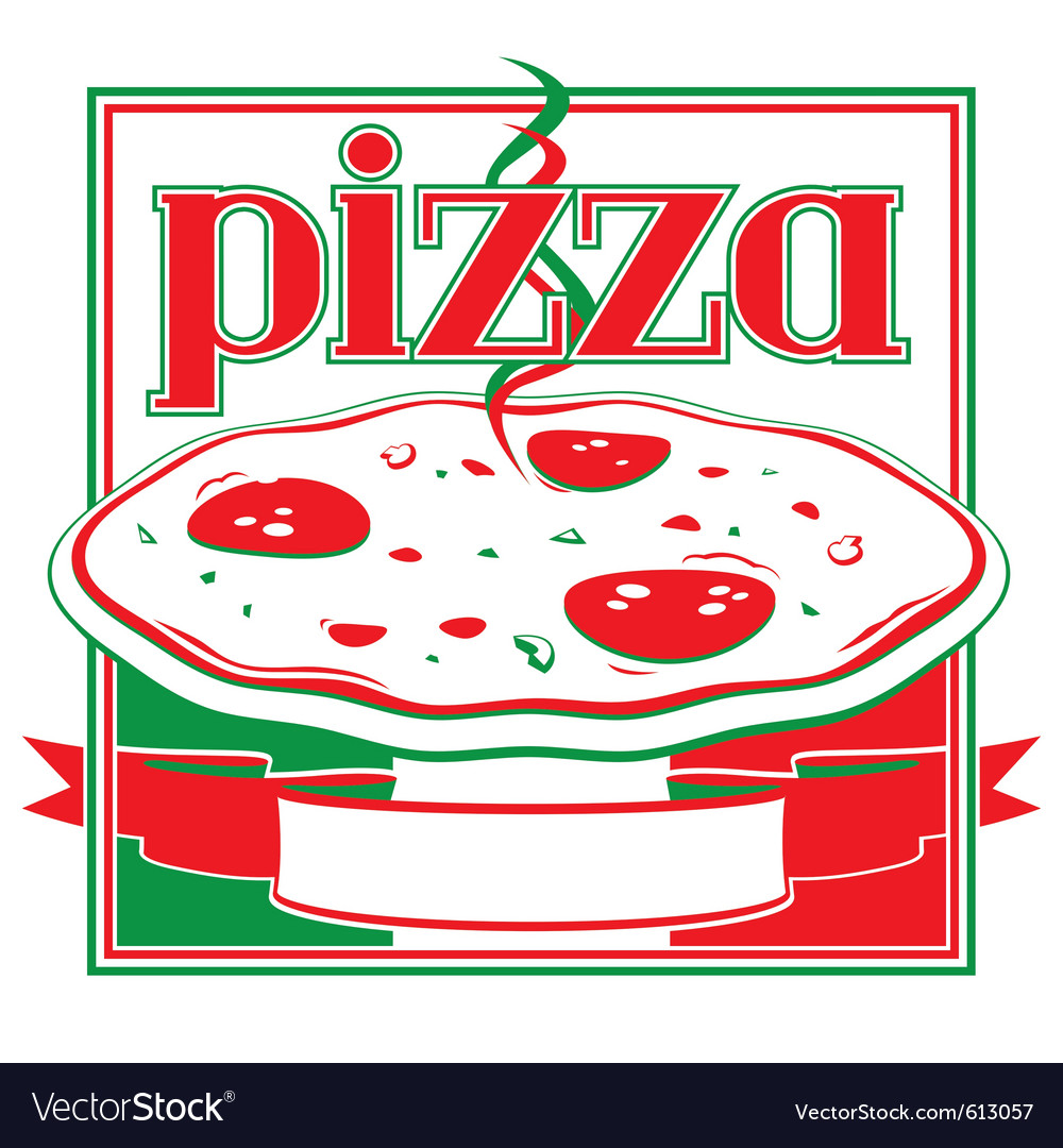 Pizza box cover design template vector