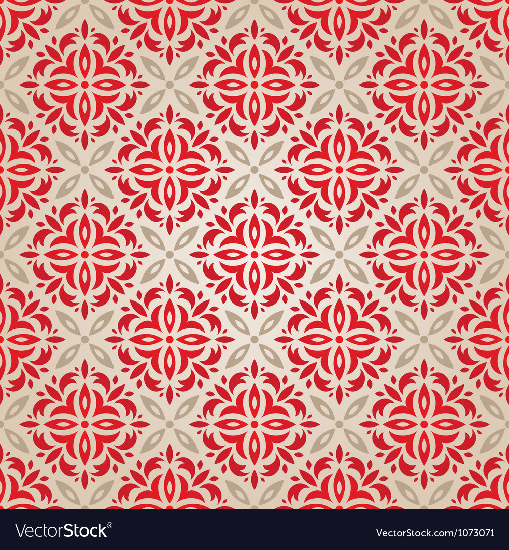 Red vintage wallpaper vector