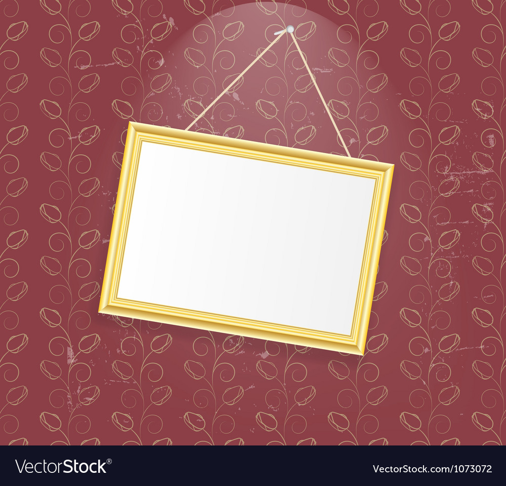 Vintage photo frame background vector