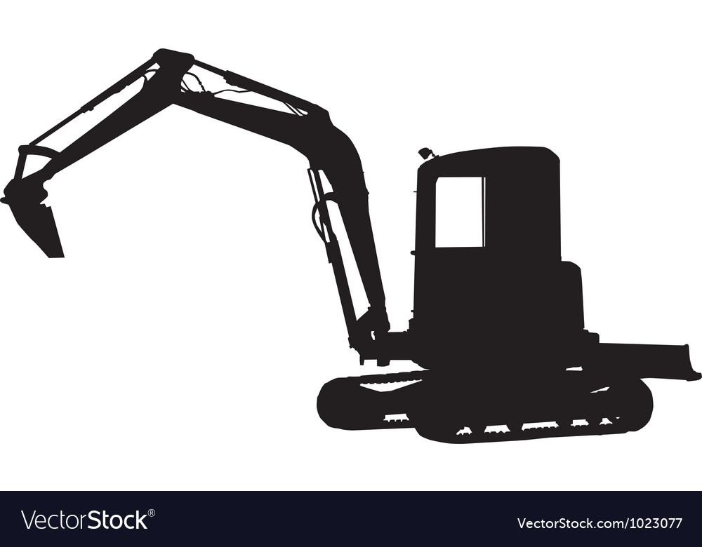 Excavator Silhouette Vector Digger vector images (over 1,210 ...