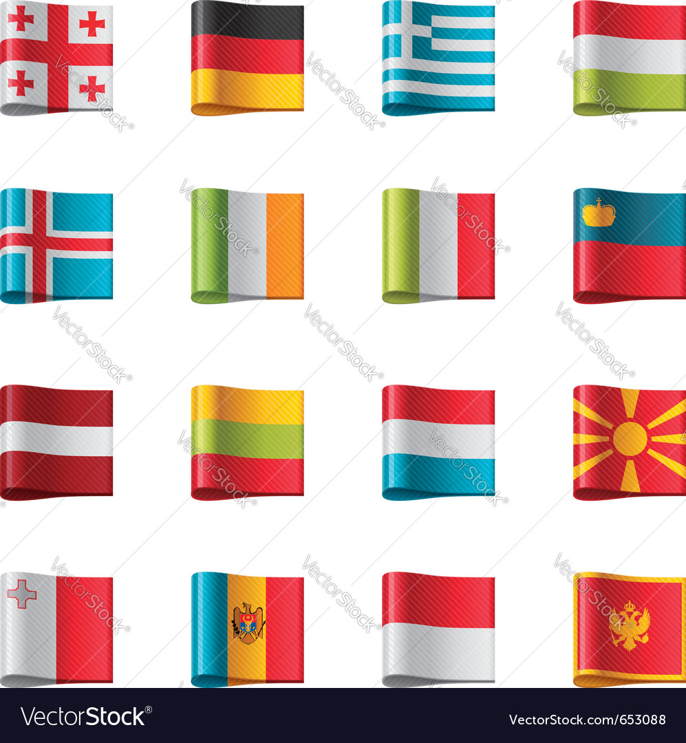 Flags  europe part 2 vector