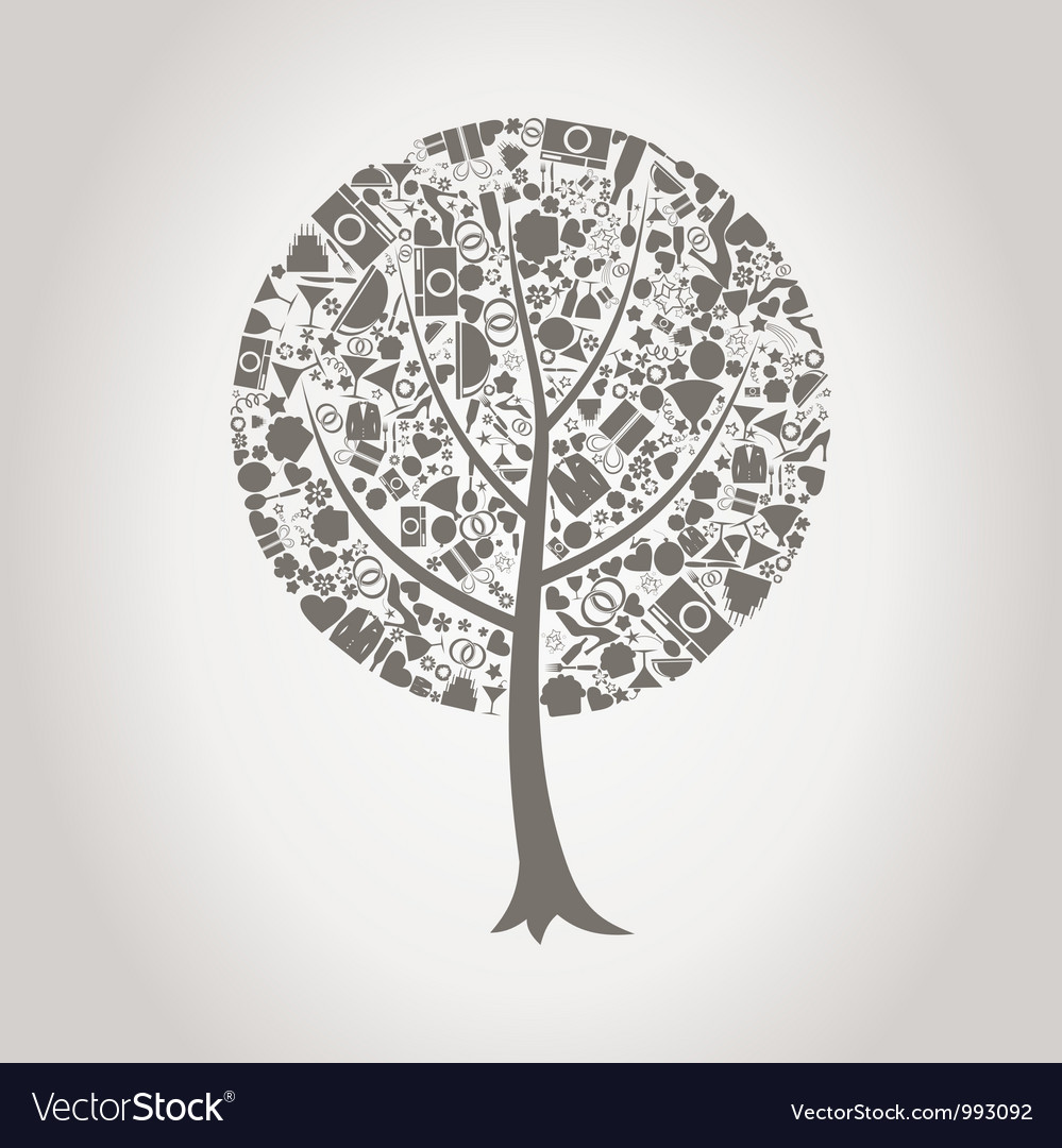 Tree wedding vector