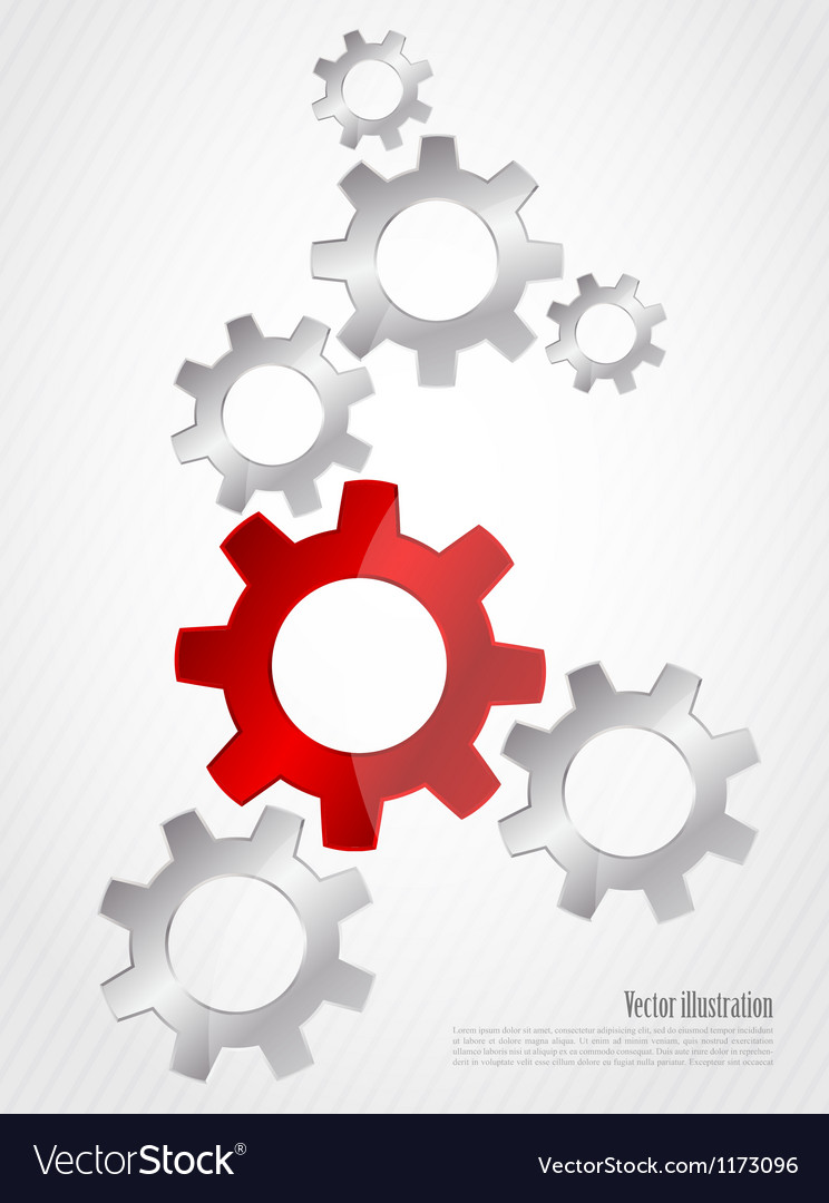Background with gears vector